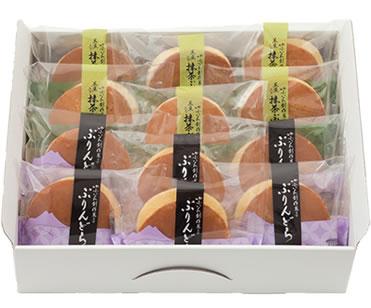 ゆふいん創作菓子 黒豆入り 抹茶ぷりんどら 詰め合わせ 12個入