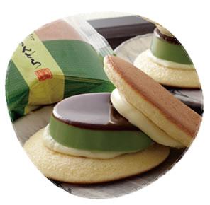 ゆふいん創作菓子 黒豆入抹茶ぷりんどら 4個入