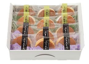ゆふいん創作菓子 黒豆入り抹茶ぷりんどら 詰め合わせ 12個入