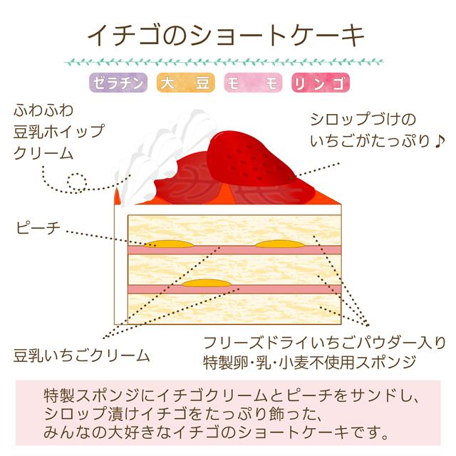 卵乳小麦不使用 クリスマスケーキ イチゴのショートケーキ