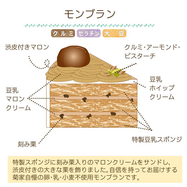 卵乳小麦不使用 クリスマスケーキ モンブラン