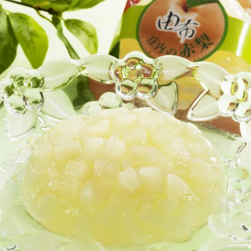 大分県産ゼリー 由布庄内の赤梨 4個入 【常温便】 【▲冷凍同梱不可▲】