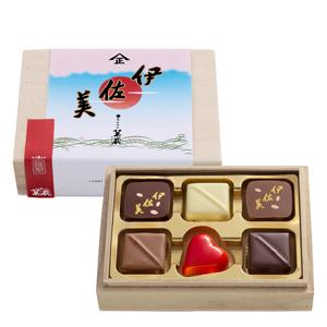 2021 バレンタイン  焼酎チョコ 《伊佐美味くらべ》 木箱6個入